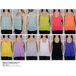72 Units of Ladies Loose Racer Back Tank Top - Womens Camisoles & Tank Tops