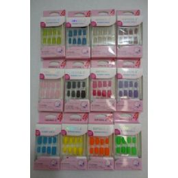 144 Units of Decorated Artificial NailS-Felt - Nail Polish