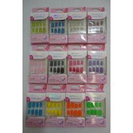 72 Units of Decorated Artificial NailS-Felt - Nail Polish