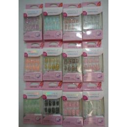 144 Units of Decorated Artificial NailS-Sparkle - Nail Polish