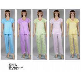 72 Units of Ladies Pj Set - Women's Pajamas and Sleepwear