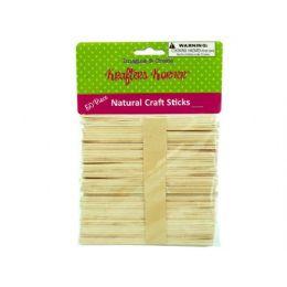 75 Bulk Natural Wood Craft Sticks