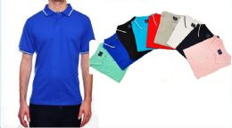 24 Units of Mens Solid Polo Shirt Jersey Fabric S-xl - Mens Polo Shirts