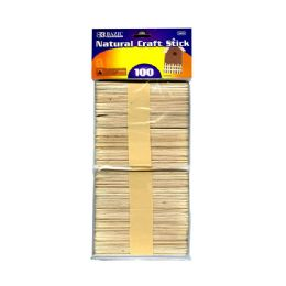 144 Units of Natural Craft Stick (100/pack) - Craft Wood Sticks and Dowels