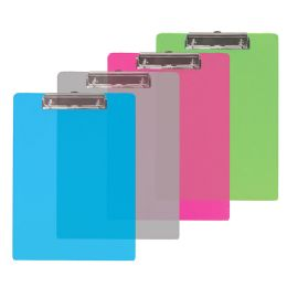 48 Units of Bazic Standard Size Plastic Clipboard W/ Low Profile Clip - Clipboards and Binders