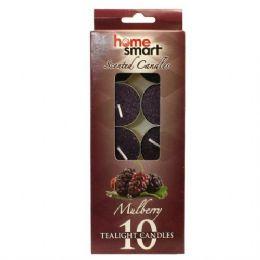 48 Bulk Home Smart Tealight 10pk Mulberry