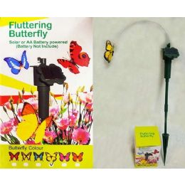 48 Units of Garden Solar & Battery Fluttering Butterfly - Garden Tools