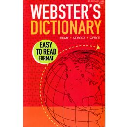 72 Units of Webster English Large Print Dictionary - Crosswords, Dictionaries, Puzzle books