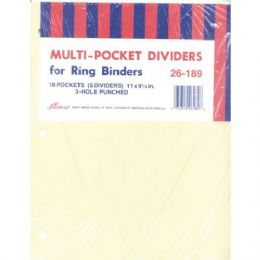40 Wholesale Ampad Pocket Dividers - 5 Pk. - 10 Pockets