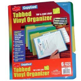 24 Wholesale Copy Gard Tabbed Vinyl Organizer 6pk. Top & Side Load