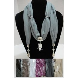 """96 of Scarf Necklace With End Charms-Owl 70"""""""