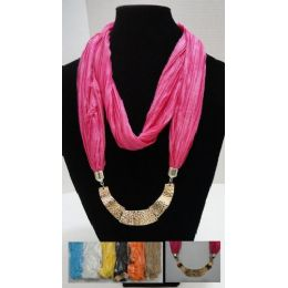 48 of Scarf NecklacE-Loop Scarf W/ Golden Charms