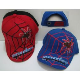 24 Units of Child's Spider Hat With Web & Spider - Kids Baseball Caps
