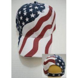 24 Units of American Flag Ball Cap - Hunting Caps