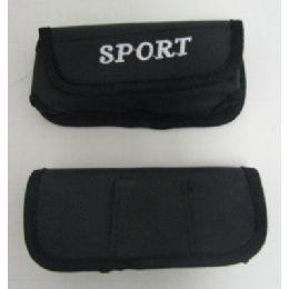 144 Bulk Black Nylon Sport Cell Phone Case