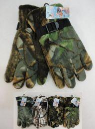 48 of Men's Hardwood Camo Fleece Gloves
