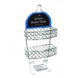 12 Units of Chrome Shower Caddy - Toilet Paper Holders