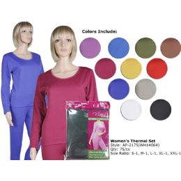 72 of Ladies Ultra Soft Microfiber Fleece Lined Thermal Sets