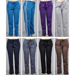 48 Units of Laides Pants Stripe & 2 Pocket - Women's Pajamas and Sleepwear