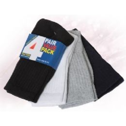 48 of Boys Ankle Sock 4 Pair Value Pack Assorted Colors
