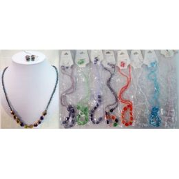 36 Units of Crystrale Jewelry Necklace & Earring Set - Necklace Sets