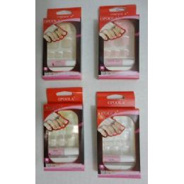 72 Units of Artificial French Nails For Toes - Nail Polish