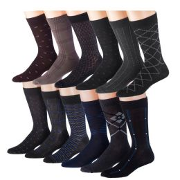 60 of Mens Dress Sock Size 10-13 Assorted Color Only