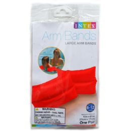 36 Units of Large Arm Bands In Peggable Polybag - Summer Toys