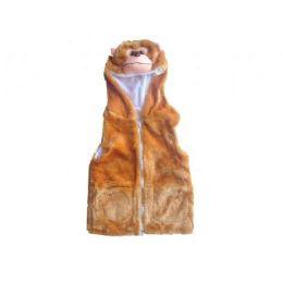 24 Units of Kids Vest With Animal Hoodie Monkey - Kids Vest