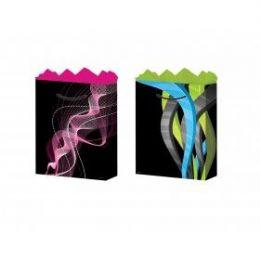 288 Units of GifT-Bag Medium Gls Geo Design 2 Styles - Gift Bags Hologram