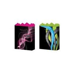 144 Units of GifT-Bag Large Gls Geo Design 2 Styles - Gift Bags Hologram