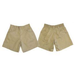 24 Units of Boys 2pkt HalF-Back Elastic School Shorts - Boys School Uniforms