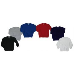 36 Units of Boys Crew Neck Fleece Sweater - Boys School Uniforms