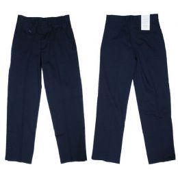 24 Units of Girls Flat Front Woven School Pant W/ Adjustable Waist Band - Girls School Uniforms