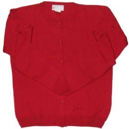 26 Units of Adult School Cardigan Red Color - Boys School Uniforms