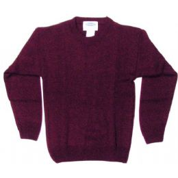 18 Units of School Crew Neck Pull Over Sweater Burgundy Color Only - Boys School Uniforms