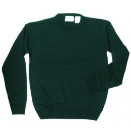 18 Units of Adult School Crew Neck Pull Over Sweater Hunter Green Only - Boys School Uniforms