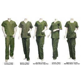 26 Units of 2 Pc Set Scrub Set Olive Only - Nursing Scrubs