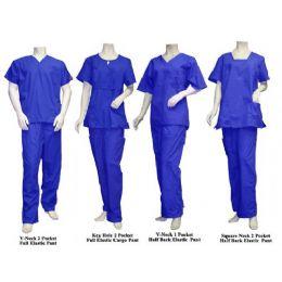 16 Units of 2 Pc Set Scrub Set Royal Blue Only - Nursing Scrubs
