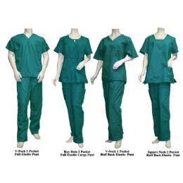 10 Units of 2 Pc Set Scrub Set Green Only - Nursing Scrubs
