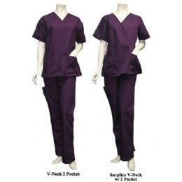 14 Units of 2 Pc Set Scrub Set W/ Half Back Elastic Cargo Pant - Nursing Scrubs