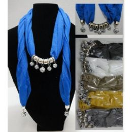 """12 of Scarf NecklacE-Zebra Print Beads [sheer Scarf]-70"""""""