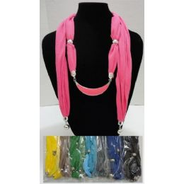 """24 of Scarf NecklacE--Crescent Moon With End Charms 70"""""""