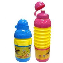 48 Wholesale Looney Tunes Foldable Sport Bottle 17oz