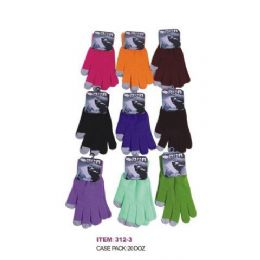 120 Units of Ladies Assorted Color Touch Screen Gloves - Conductive Texting Gloves