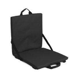 6 Units of Stadium Seat Cushion - Black - Auto Accessories
