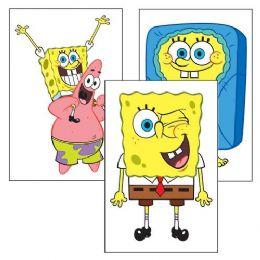 180 Units of Spongebob Squarepants Temporary Tattoo Pack - Tattoos and Stickers