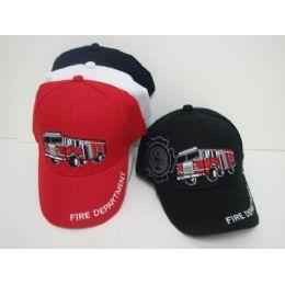 24 Units of Kids Fire Truck Hat - Kids Baseball Caps