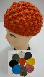 48 Units of Wide Hand Knitted Ear Band [solid Color] *loop - Ear Warmers