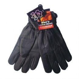 24 Bulk Winter Glove Genuine Leather Men